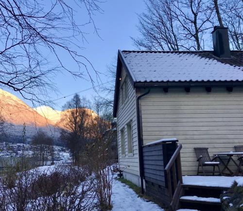 Hytte, Visnes Hotel Stryn during the winter