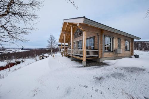 Arctic Aurora Borealis cottages during the winter