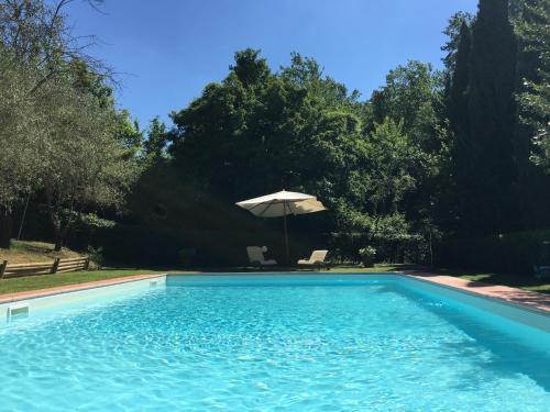 The swimming pool at or near B&B Countryhouse Villa Baciolo