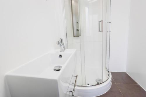 A bathroom at Via London Lewisham