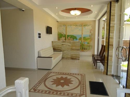 The lobby or reception area at Guest House Ritsa
