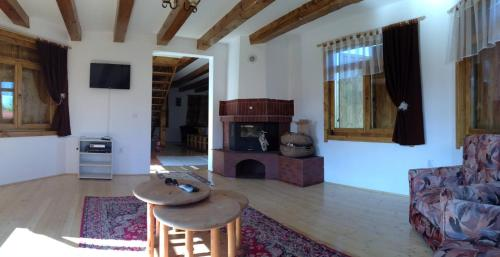A seating area at Holiday house Casa Dejani