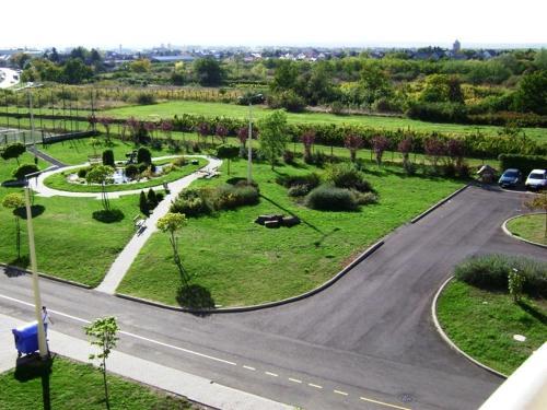 A bird's-eye view of Károly Róbert Diákhotel