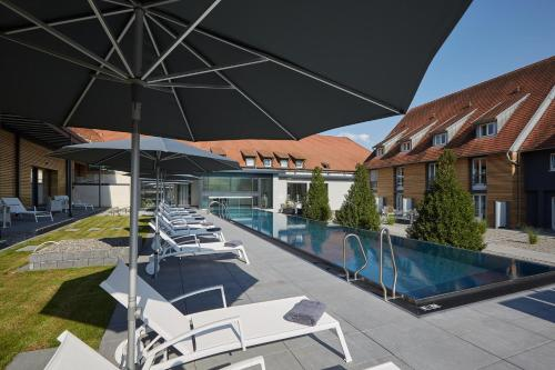 The swimming pool at or near Schloss Reinach