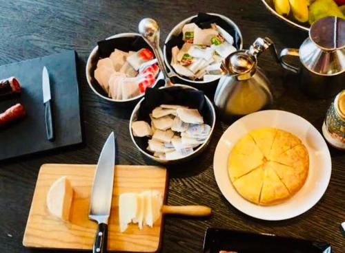 Breakfast options available to guests at Molino Tejada
