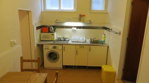 A kitchen or kitchenette at Prague Hermelinska