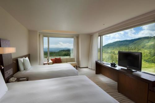 A television and/or entertainment center at Hilton Niseko Village