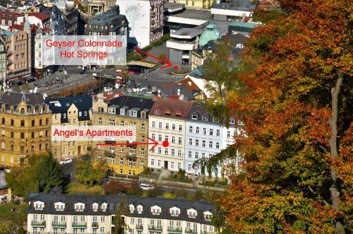 Letecký snímek ubytování Angel's Apartment