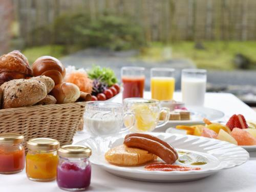 Breakfast options available to guests at Heian No Mori Kyoto