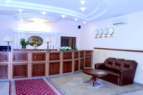 The lobby or reception area at Voronezh Hotel