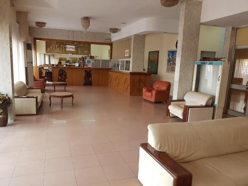 The lobby or reception area at Relax Hotel