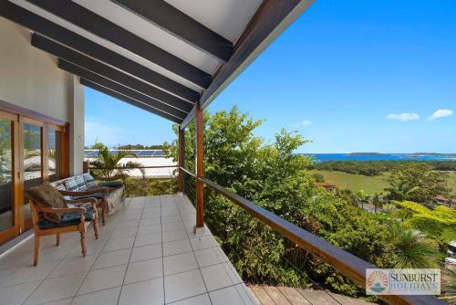 A balcony or terrace at Mcauleys Beach House