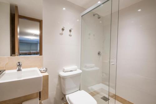 Um banheiro em Hotel Atlântico Travel Copacabana