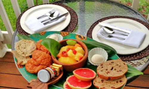 Breakfast options available to guests at Poipu Bed and Breakfast Inn