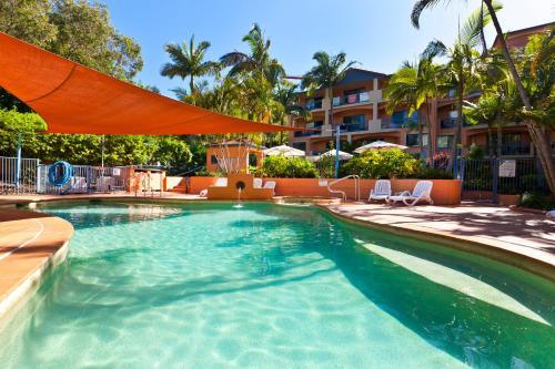 The swimming pool at or near Bella Mare Coolangatta Beachside Apartments