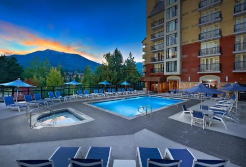 The swimming pool at or near Hilton Whistler Resort & Spa