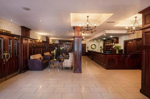 The lobby or reception area at Downings Bay Hotel