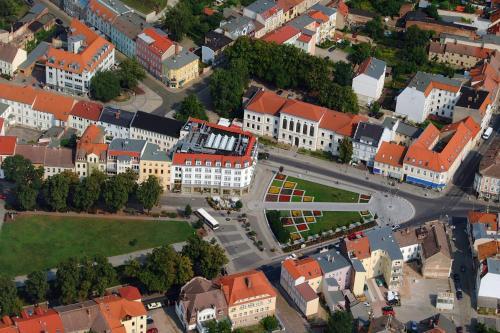 Blick auf Hotel Kaiserhof aus der Vogelperspektive