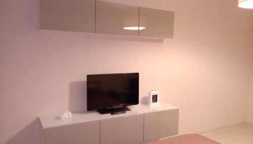 A television and/or entertainment center at Home atmosphere