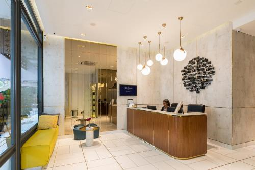 The lobby or reception area at Gold3 Boutique Hotel