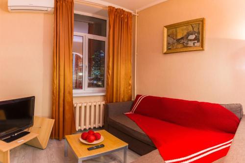 A seating area at Apartamentos na Kutuzovskom Prospekte