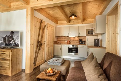 מטבח או מטבחון ב-AlpenParks Hagan Lodge Altaussee
