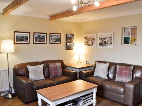 A seating area at Coal Miners Cottage