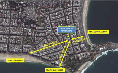 Uma vista aérea de Copacabana Posto 6