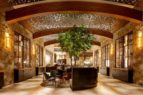 The lobby or reception area at Archer Hotel Napa