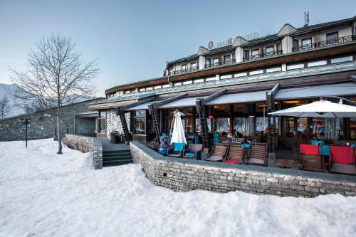 Marco Polo Hotel Gudauri during the winter