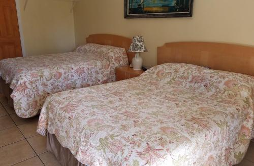 A bed or beds in a room at Sands Point Motel