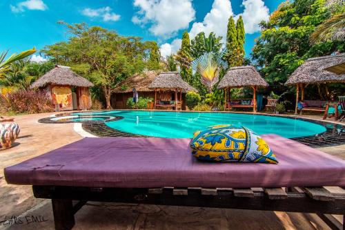 The swimming pool at or near Diani Backpackers