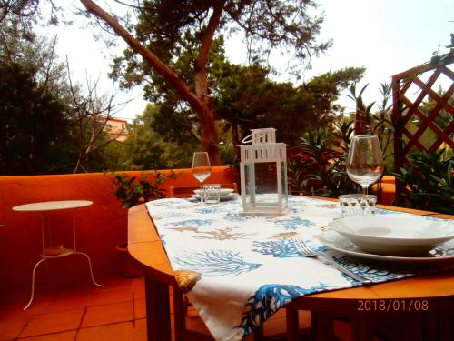 A restaurant or other place to eat at Appartamento Chiara