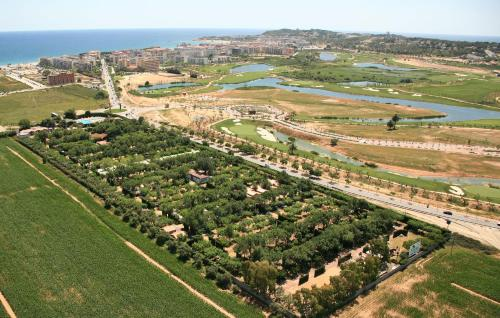 A bird's-eye view of Camping La Pineda de Salou