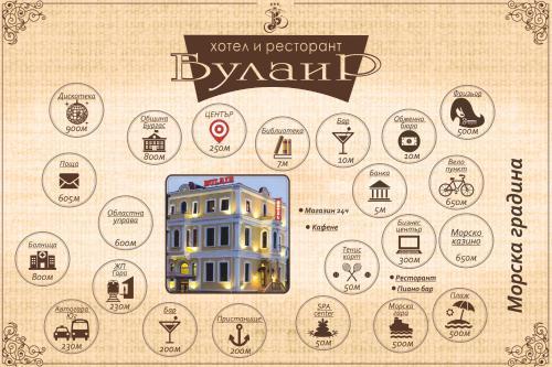 План на етажите на Хотел Булаир