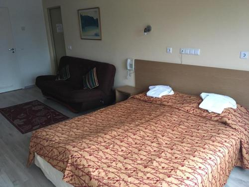 A bed or beds in a room at Carolina Hotel