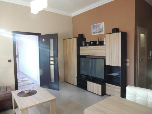 Łóżko lub łóżka piętrowe w pokoju w obiekcie Apart Swinoujscie