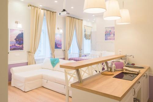 Istumisnurk majutusasutuses Revelton Suites Tallinn