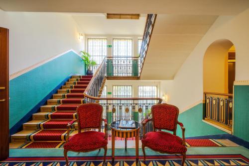 منطقة جلوس في فندق بنتهاوس باي آرت ديكو مونتانا