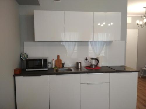 A kitchen or kitchenette at Apartament BJ