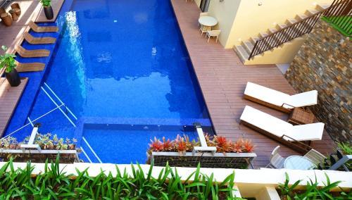 The swimming pool at or near Altabriza Resort Boracay