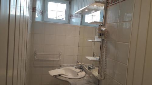 Salle de bains dans l'établissement Chez Francoise