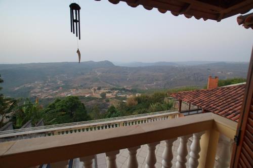 Uma vista da montanha tirada do albergue