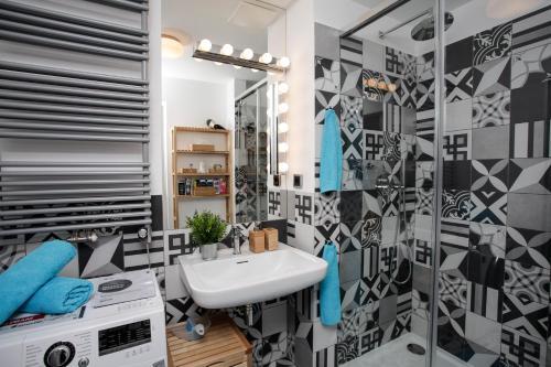 A bathroom at Luxury apartment Spálená
