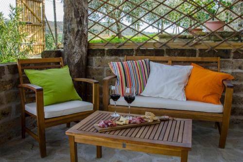 Area soggiorno di Le Voltarelle Bed & Breakfast