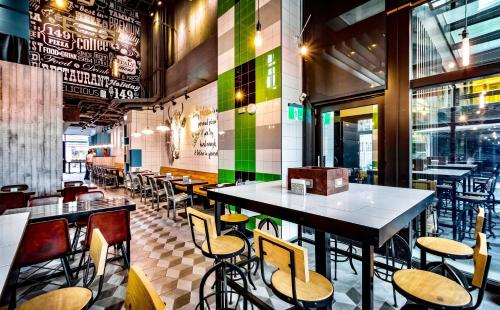 The lounge or bar area at Green World SongShan