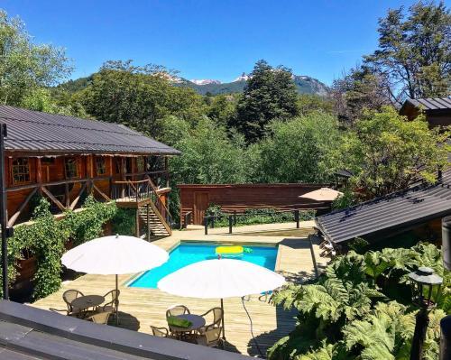 Vista de la piscina de Hotel El Barranco o alrededores