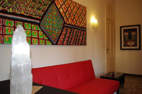 A seating area at Venice Rainbow Apartment San Marco
