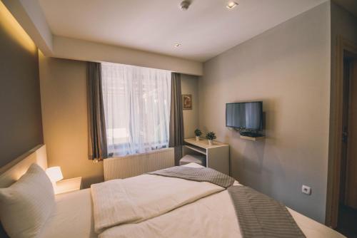 Krevet ili kreveti u jedinici u objektu Hotel Nova Bentbaša