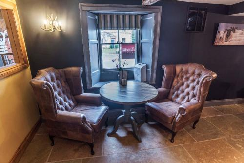 A seating area at New Crown Inn